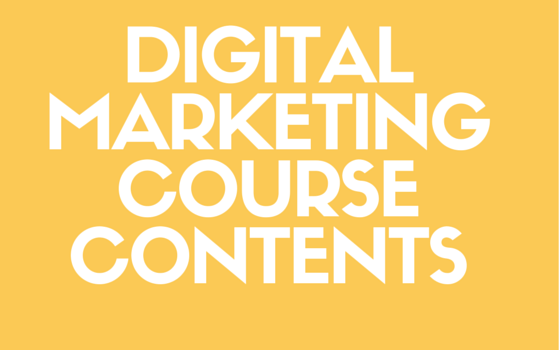 Digitalmarketingcoursecontents